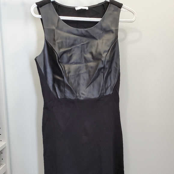 Dress black with simili leather - perfect condion